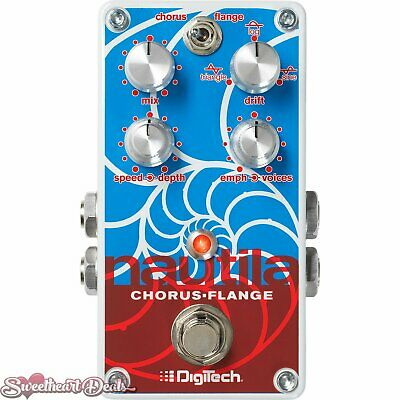 DigiTech Nautila Stereo Chorus and Flanger Guitar Effect Pedal