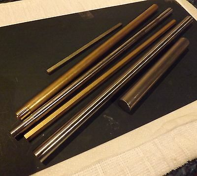 "3/8"" & 1/2"" A/F  Brass Hexagon bar  CZ121 Grade 1"", 6"" & 12"" Lengths imperial"