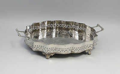 Silver colored Tray decorated nickel plated 9977487