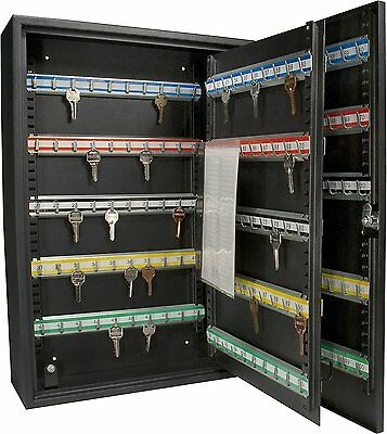 200 Hook Key Box Metal Safe Lock Storage Case Cabinet Wall Mount Security Home