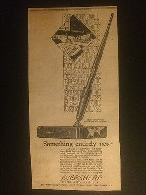 Orig. 1928 Ad: EVERSHARP PENS & PENCILS