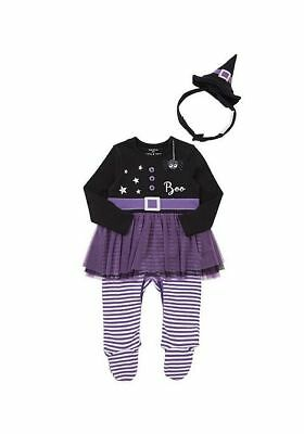 baby girls Halloween Witch All in One Dress-Up Costume with Hathairband 0-2 year