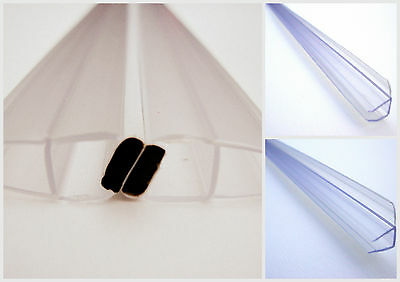SALE!!! *SET OF FOUR* MAGNETIC SHOWER DOOR SEALS + 2 STRIPS  4-6mm Glass 2M LONG