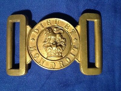 Victorian (1837-1901) Near Mint British Army Brass Belt Buckle, Victorian Crown