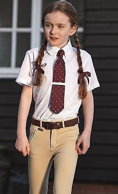 """REDUCED Dublin Penwood Child Competition Show Shirt, Cream Tie collar, 24""""- 32"""""""