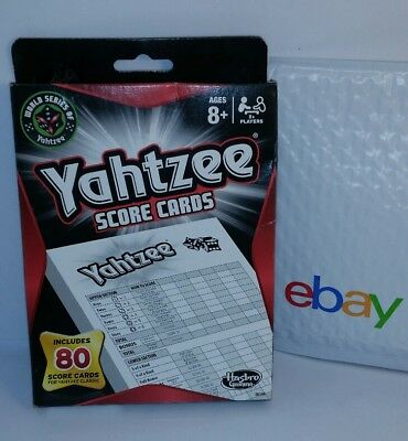 New Sealed Yahtzee Game Score Card Pad Refill 80 Hasbro Classic - Fast Ship Free