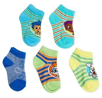 Nickelodeon 5pk Bubble Guppies Striped Shorty Toddler Socks Gil Goby Nonny Puppy