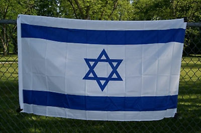 israel flag  3 x 5 ( super polyester ) star of david ( new )