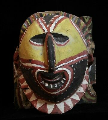 Section of Abelam mens house lintel New Guinea  ANCESTRAL FACE