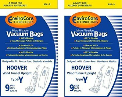 Hoover WindTunnel Upright Type Y Vacuum Bags Microfiltration with Closure - 18 P