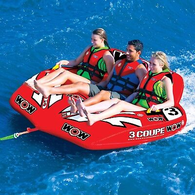 Wow Watersports 3P Coupe Cockpit Inflatable Towable Ski Tube (15-1040)