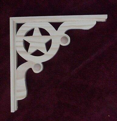 "Mission Style Star Wood Gingerbread { 13"" x 13"" } Corbel Bracket #68 ~ by  PLD"