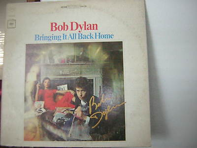 Bob Dylan Signed Lp Bringing It Back Home