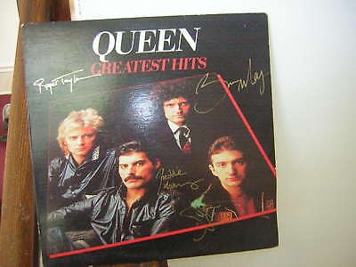 Queen Signed Lp Greatest Hits Freddie Mercury John Deacon