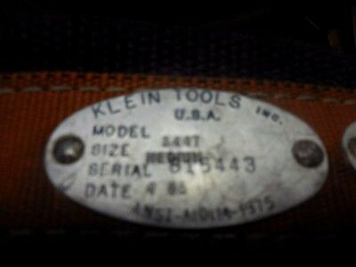 USED Klein Tools Inc. Climbing Belt Model 5447 Medium
