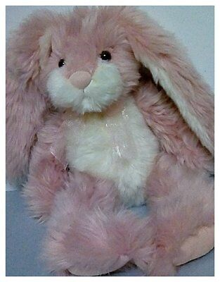 Russ Berrie & Company Baby Beatrice the Pink & White Bunny Rabbit Plush 16""