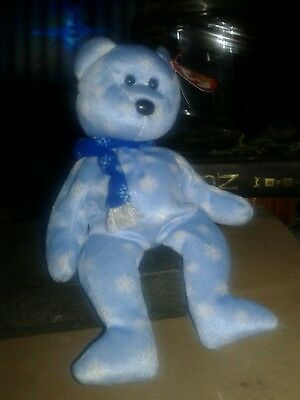 Ty Beanie Baby 1999 Holiday Teddy with errors.  Very Rare.