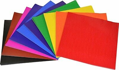 100 Glossy Paper Squares 127mm x 127mm Kids Art Craft Origami