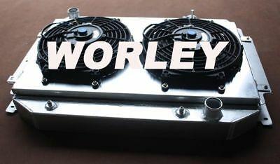 Aluminum radiator +Shroud +Thermo Fan for HG HT HK HQ HJ HX HZ V8 Chev engine AT