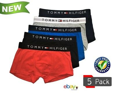 5 X Tommy Hilfiger Mens Underwear Trunks Boxers Tight Fitting M L XL 2XL Size