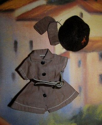 "SALE!  Terri Lee TAGGED 8"" BROWNIE Outfit Dress Belt Beanie and Socks MINT!"