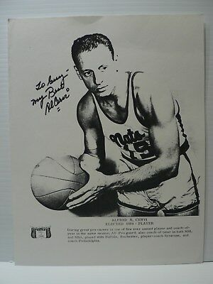 AL CERVI Basketball Player HOF AUTOGRAPH SIGNED on Photocopy