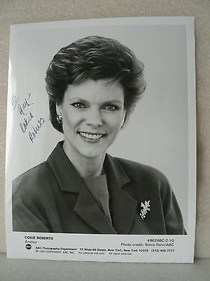 COKIE ROBERTS American Journalist Author AUTOGRAPH SIGNED PHOTO 7  X  9