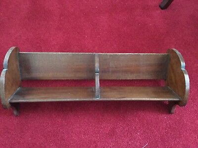 Antique Mahogony desk top book / DVD / CD / Trough / Cradle / Rack Lovely One