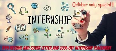 Resume and cover letter service and Internship Program