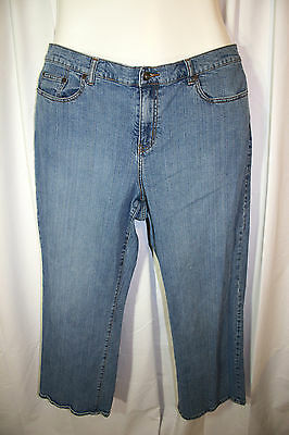 877c526e6e7 Venezia Lane Bryant Blue Stretch Denim Boot Cut Jeans Petite Plus 20 20P  Short