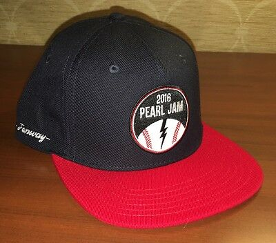 PEARL JAM - Boston Fenway Baseball style HAT - WOW 8/5 8/7 2016 red sox