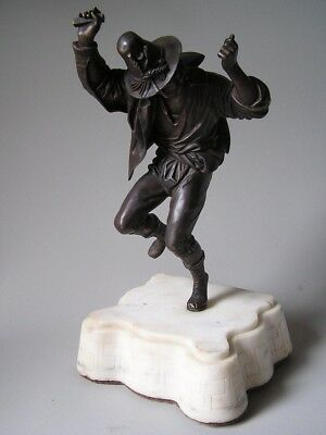 19th CENTURY BRONZE of a GYPSY DANCING Marble Base