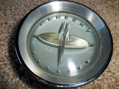 1960 Mercury Steering Wheel Horn Button complete with emblem insert and bezel