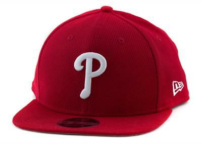 Philadelphia Phillies New Era MLB Team 9Fifty Hat Genuine Baseball Cap In Red