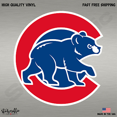 Chicago Cubs Cub MLB Baseball Full Color Logo Sports Decal Sticker-Free Shipping