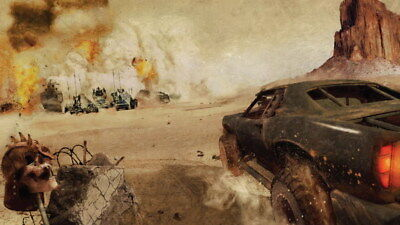 "081 Mad Max 4 Fury Road - Fight Shoot Car USA Movie 24""x14"" Poster"