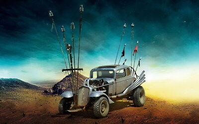 "060 Mad Max 4 Fury Road - Fight Shoot Car USA Movie 22""x14"" Poster"