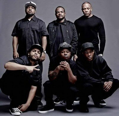 "062 Straight Outta Compton - Ice Cube MC Ren HIPHOP Moive14""x14"" Poster"