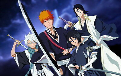 "130 Bleach - Dead Rukia Ichigo Fight Japan Anime 22""x14"" Poster"