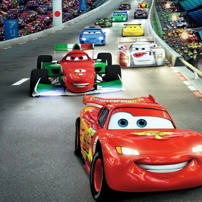 "059 Cars - Pixar Lightning McQueen Cartoon Movie 14""x14"" Poster"