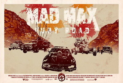 "115 Mad Max 4 Fury Road - Fight Shoot Car USA Movie 20""x14"" Poster"