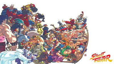"""129 Street Fighter - Fight Ryu Guile Ken ChunLi Game 24""""x14"""" Poster"""