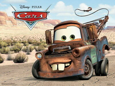"054 Cars - Pixar Lightning McQueen Cartoon Movie 18""x14"" Poster"