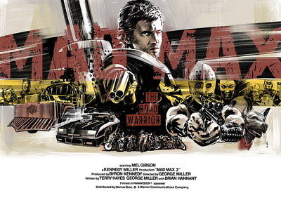 "128 Mad Max 4 Fury Road - Fight Shoot Car USA Movie 19""x14"" Poster"