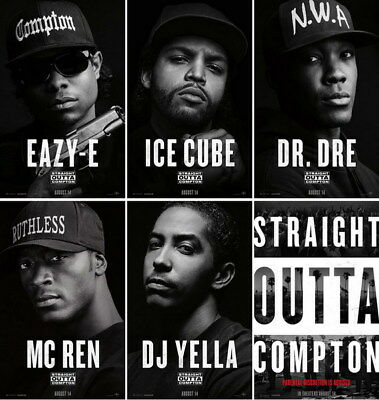 "053 Straight Outta Compton - Ice Cube MC Ren HIPHOP Moive14""x14"" Poster"