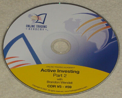 Online Trading Academy - Brandon Wendell - Active Investing Part 2 CD