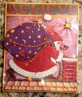 Mary Engelbreit, Sealed, Believe, Santa, Large Dimensional Card And Easel