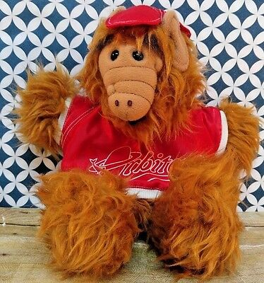 ALF Plush Hand Puppet in Red Shirt  Orbiters Plush Alf Vintage Toy 11.5""