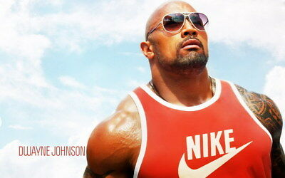 """096 Dwayne Johnson - The Rock Fast Furious Muscle Strong USA Star 38""""x24"""" Poster"""