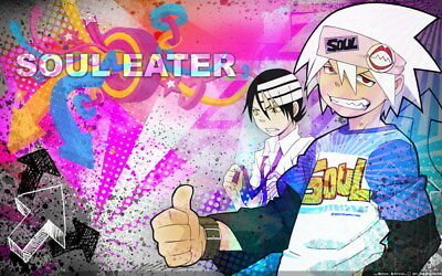 """099 Soul Eater - Shinigami Death the kid Anime 38""""x24"""" Poster"""